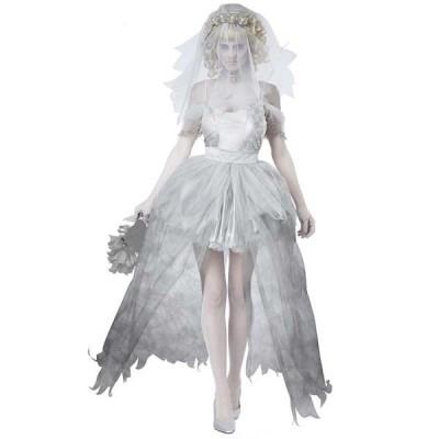 ハロウィン 衣装 コスプレ 仮装 コスチューム レディース ゾンビ 花嫁 GHOSTLY BRIDE パー ティー 取り寄せ cos-1062