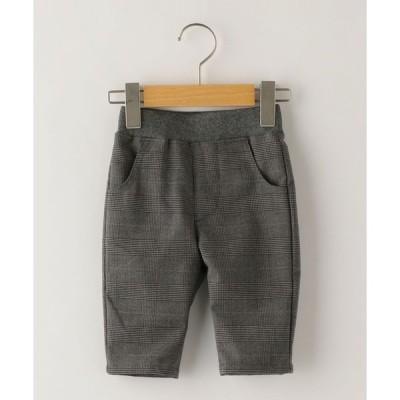 【シップスキッズ】SHIPS KIDS:グレンチェック 7分丈 パンツ(80〜90cm)