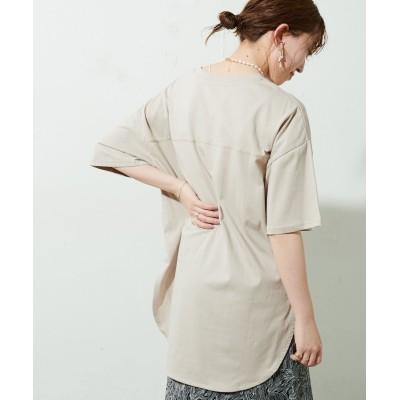 裾ラウンドビッグTシャツ