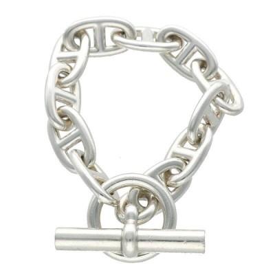 エルメス HERMES Chaine d'Ancre GM サイズ:11LINK シェーヌダンクルGMシルバーブレスレット 中古 HJ12