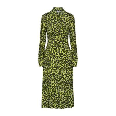 ULTRA'CHIC 7分丈ワンピース・ドレス ビタミングリーン 38 レーヨン 90% / ポリウレタン 10% 7分丈ワンピース・ドレス