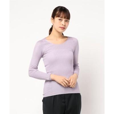 tシャツ Tシャツ ホールガーメント先染シルクリブ無地 インナー(長袖)
