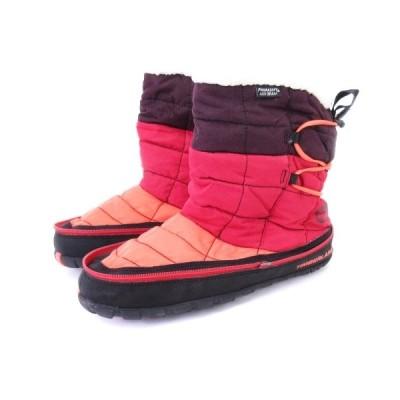 【中古】ティンバーランド Timberland アースキーパーズ ラドラー トレイル スノーブーツ 1624R EK RDLR MID レッド 黒系 26 靴 レディース 【ベクトル 古着】