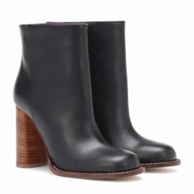 マルニ Marni レディース ブーツ ショートブーツ シューズ・靴 Leather ankle boots Black