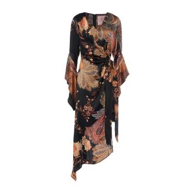 KITAGI® ミニワンピース&ドレス ブラック 38 シルク 100% ミニワンピース&ドレス