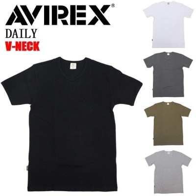 AVIREX (アヴィレックス) DAILY S/S V-NECK T-SHIRT デイリー ショートスリーブ Vネック Tシャツ 半袖 全5色
