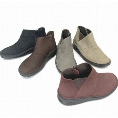 ブーティー ブーツ レディースシューズ レディースファッション 靴 本革 起毛素材 横ファスナー サイドゴア サイドファスナー