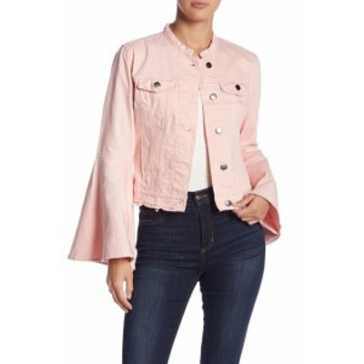 bell ベル ファッション 衣類 Romeo & Juliet Couture NEW Pink Womens Large L Bell Sleeve Denim Jacket