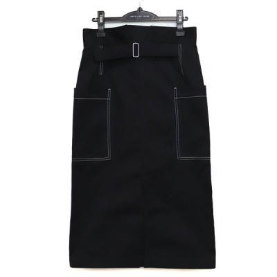 20AW beautiful people selvedge logo chino back side skirt ビューティフルピープル レディース ボトムス セルビッジ ロゴ チノ バック サイド スカート 36