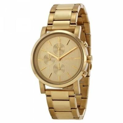 腕時計 ディーケーエヌワイ DKNY レディース NY2161 'Soho' クロノグラフ ゴールドトーン ステンレス スチール 腕時計