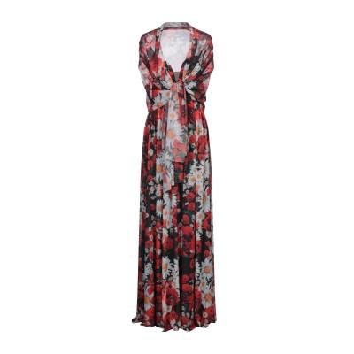 SOANI 7分丈ワンピース・ドレス レッド 42 ポリエステル 100% 7分丈ワンピース・ドレス