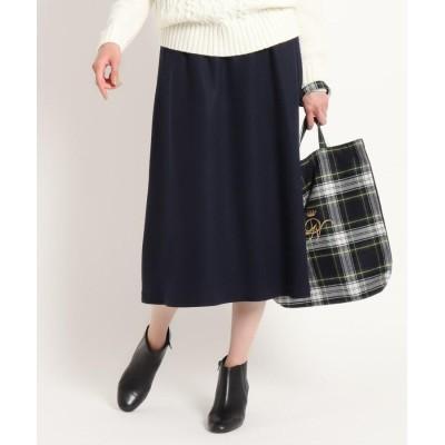 Dessin(Ladies)(デッサン(レディース)) 【ウール100%】圧縮ウールジャージドロストミモレスカート