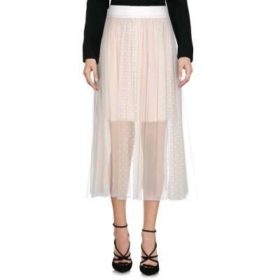 ピンコ PINKO 7分丈スカート アイボリー L ナイロン 100% 7分丈スカート