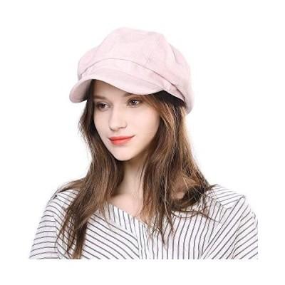 (シッギ) Siggi ウイルス細菌飛沫対策防護帽 小顔効果 かわいいキャスケット (89046-ピンク)