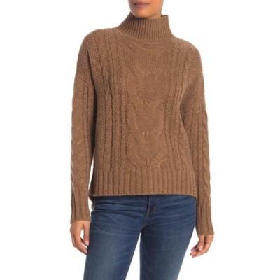360カシミア レディース ニット&セーター アウター Alexia Cable Knit Pullover Sweater BRANDY