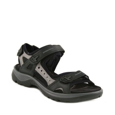 エコー レディース サンダル シューズ Yucatan Adjustable Strap Leather Sandals Black