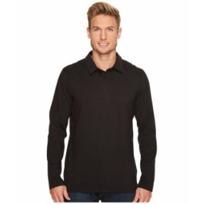 アークテリクス メンズ シャツ トップス Captive Long Sleeve Polo Black/Black