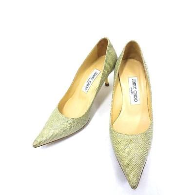 【中古】JIMMY CHOO ジミーチュウ 靴 パンプス レディース ピンヒール シャンパンゴールド サイズ22.5cm