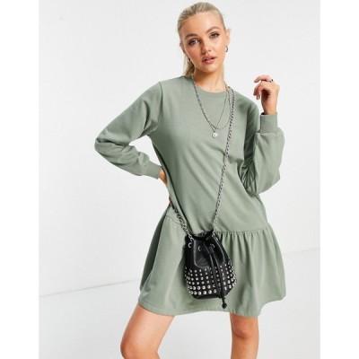 ジェイディーワイ JDY レディース ワンピース ワンピース・ドレス sweat dress in green グリーン