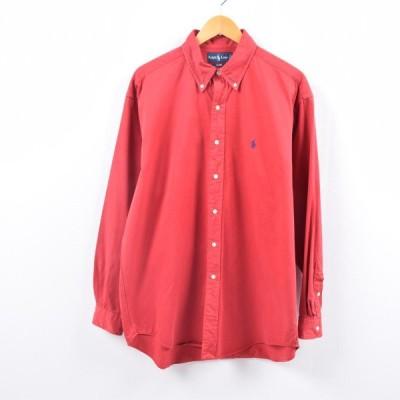 ラルフローレン 長袖 ボタンダウンシャツ メンズXL /wbh5062