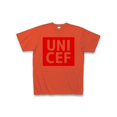 【ユニクロ風】UNICEF(ユニセフ) Tシャツ(イタリアンレッド)