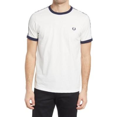 フレッドペリー FRED PERRY メンズ Tシャツ トップス Extra Trim Fit Cotton Ringer T-Shirt Snow White
