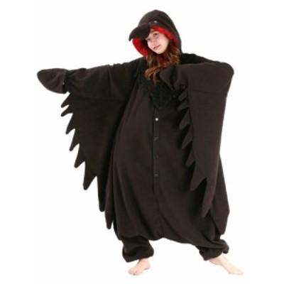 着ぐるみ 大人用 カラス着ぐるみ フリース SAZAC サザック SAZACの正規品 コスプレ クリスマス コスチューム 仮装衣装 パーティ