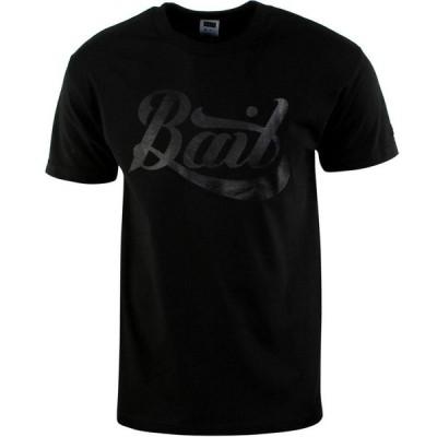 BAIT メンズ Tシャツ ロゴTシャツ トップス Script Logo Tee black/black