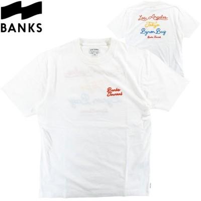 バンクス メンズ Tシャツ カットソー バイロンベイ チェーンステッチ サーフブランド 半袖 S/S TEE BANKS ATS0620