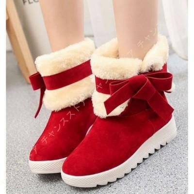 大きいサイズ 厚底 ムートンブーツ レディース 靴 韓国風 歩きやすい ファッション 防寒 カジュアル ふわふわ アウトドア ウインターブーツ 冬用シューズ