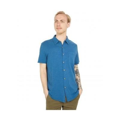 Mod-o-doc モッドオードック メンズ 男性用 ファッション ボタンシャツ Montana Short Sleeve Button Front Shirt - Quiet Teal