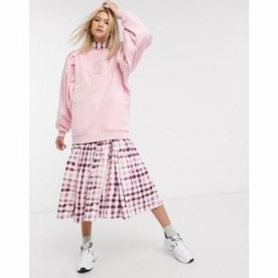 ダムソンマダー Damson Madder レディース スウェット・トレーナー organic cotton relaxed sweatshirt with extreme sleeves and front