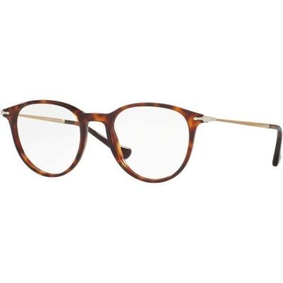 ペルソール   Persol PO3147V Eyeglasses 48-19-140 Havana w/Demo Clear Lens 24 PO3147-V PO 3147-V PO 3147V 輸入品