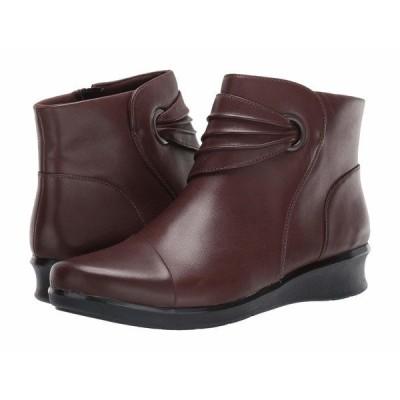 クラークス ブーツ&レインブーツ シューズ レディース Hope Twirl Dark Brown Leather