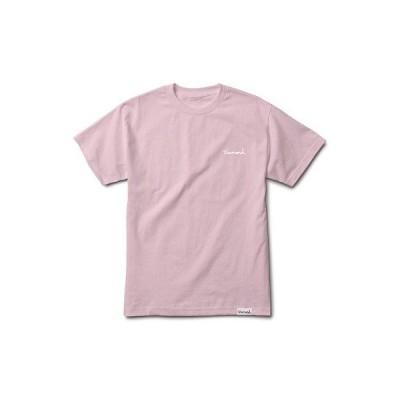 Tシャツ ダイアモンド サプライ カンパニー Diamond Supply Co. Men's Mini OG Script T Shirt Pink Tee Skate Clothing Apparel