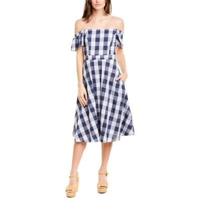 アドレイン ラエ ワンピース トップス レディース Adelyn Rae A-Line Dress navy & white