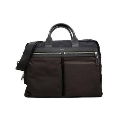 未使用 ポールスミス 2WAY 軽量 ブリーフケース ビジネスバッグ 書類かばん PSN145 ブラック 茶色 濃紺 バイカラー ショルダーバッグ