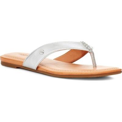 アグ UGG レディース ビーチサンダル シューズ・靴 Tuolumne Flip Flop Silver Leather