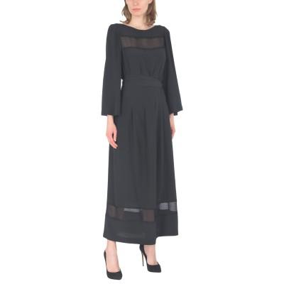 VANESSA SEWARD ロングワンピース&ドレス ブラック 34 シルク 100% / レーヨン / ナイロン ロングワンピース&ドレス