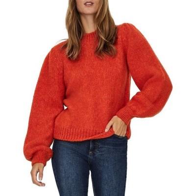 ヴェロモーダ レディース ニット・セーター アウター Diana Puff Sleeve Sweater