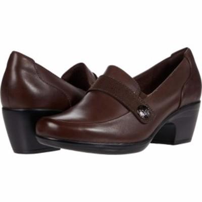 クラークス Clarks レディース シューズ・靴 Emily Andria Dark Brown Leather/Synthetic