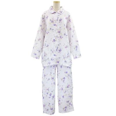 シニアファッション レディース 70代 80代 90代 大きい サイズ 綿100% 襟あり 日本製 パジャマ 高齢者 お年寄り 敬老の日 シニア 服 ファッション 春 秋 介護