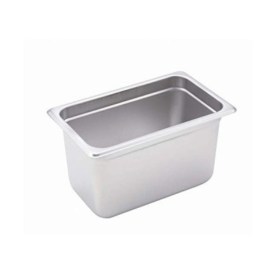 Winco SPJH-406 Steam Table Pan, 1/4 Size, 15cm Deep, Heavy Weight S/S,Anti-