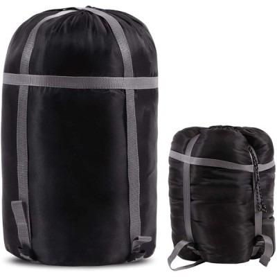 CAMPMOON 寝袋 スタッフサック 軽量 圧縮袋 バックパッキングキャンプ用 ブラック XL 並行輸入品