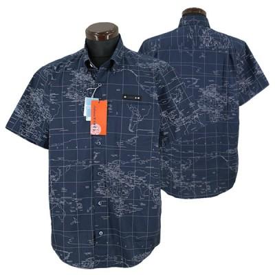 サルバトーレ・ビンチ■2021春夏■半袖ボタンダウンシャツ(紺)11-2103-09-49