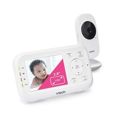 "新品VTech VM3252 Video Baby Monitor with 1000ft Long Range, Auto Night Vision, 2.8"" Screen, 2-Way Audio Talk, Temperature Sensor, Power"