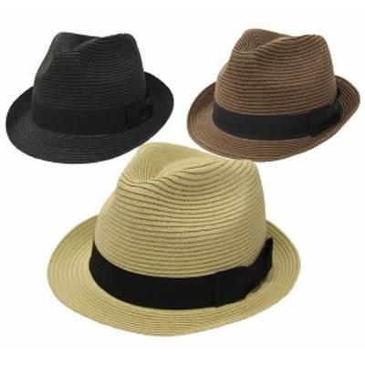 通常サイズ~60cm対応 中折れハット プレーンペーパー中折れハット 中折れ帽 ストローハット  exas