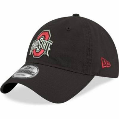 ニューエラ New Era メンズ キャップ 帽子 Ohio State Buckeyes Black 9Twenty Core Classic Adjustable Hat