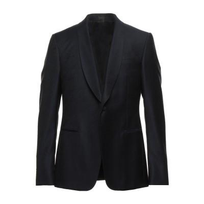 ZZEGNA テーラードジャケット ダークブルー 52 ウール 100% テーラードジャケット