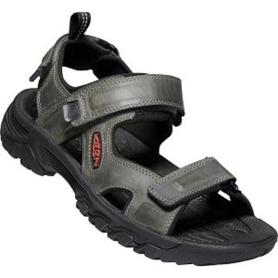 (取寄)キーン メンズ ターギー 3 オープン トゥ サンダル Keen Men's Targhee III Open Toe Sandal Grey / Black